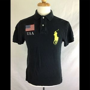 Ralph Lauren Custom Fit Polo USA Mens Size M